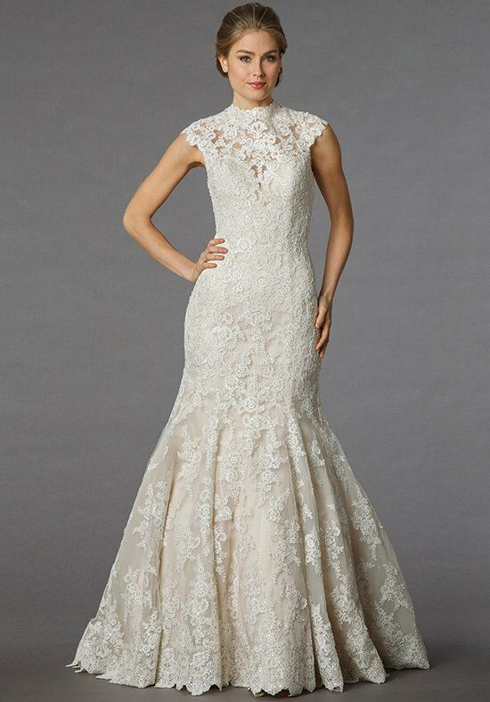 Danielle caprese for kleinfeld 113063 wedding dress the knot for Kleinfeld mermaid wedding dresses