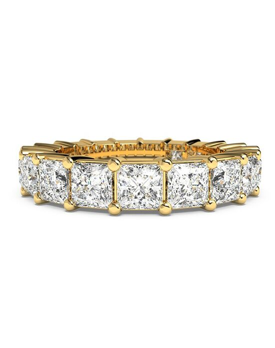 Ritani Women's Princess-Cut Diamond Prong-Set Eternity Ring - in 18kt Yellow Gold - (4.41 CTW) Gold Wedding Ring