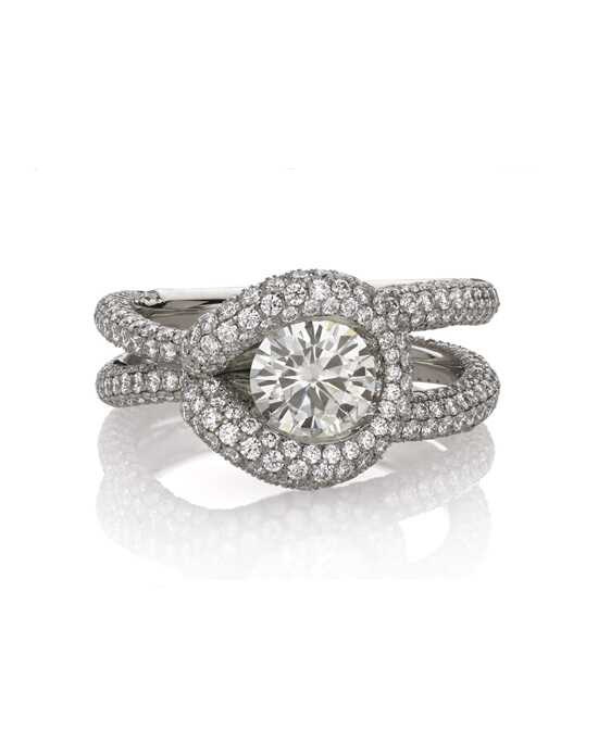 "JJBückar ""WRAPPED"" Elegant Round Cut Engagement Ring"