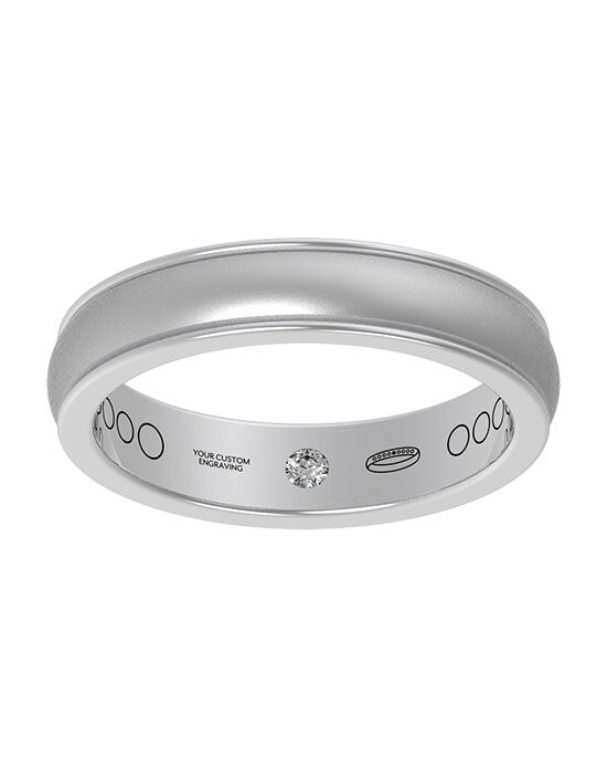 Everband 4 mm Linea with Matte Gold, Platinum, Rose Gold, White Gold Wedding Ring