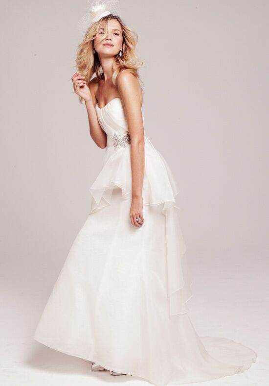 The Nordstrom Wedding Suite Nouvelle Amsale - Peplum Strapless Gown ...