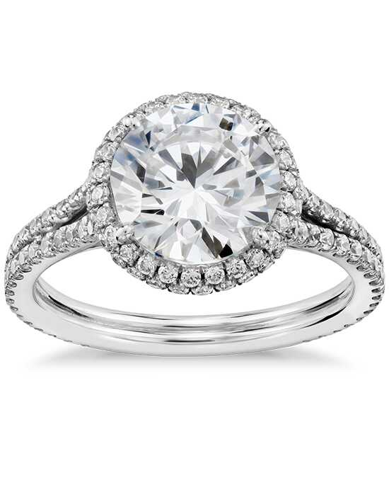 Blue Nile Studio Round Cut Engagement Ring