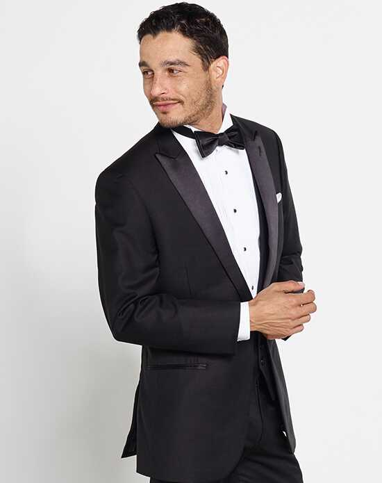 Peak lapel wedding tuxedos suits the black tux junglespirit Choice Image