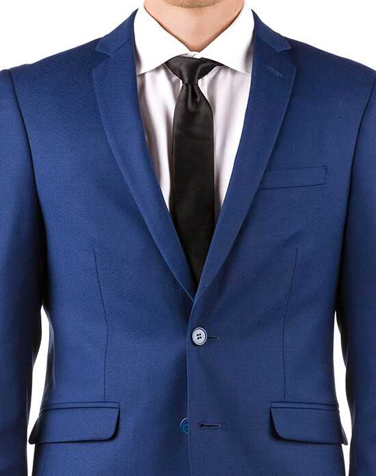 Generation Tux Bright Blue Notch Lapel Suit Blue, White Tuxedo
