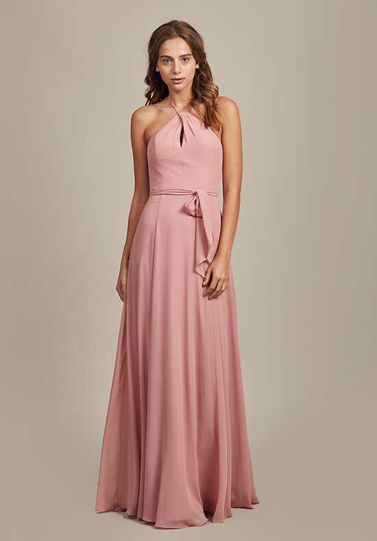 Amsale Bridesmaids Colby Halter Bridesmaid Dress