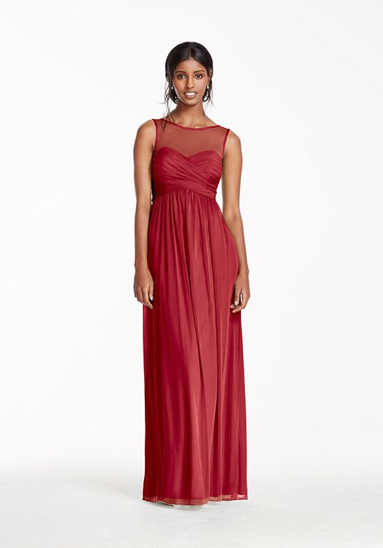 David's Bridal Collection David's Bridal Style F15927 Illusion Bridesmaid Dress