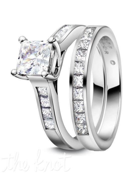Jeff Cooper R-2974 & R-2974/B Platinum, White Gold Wedding Ring