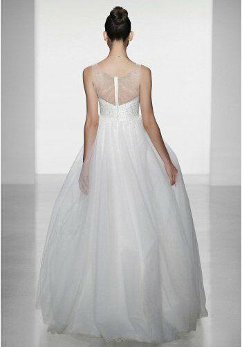 Amsale erie wedding dress the knot for Amsale wedding dress price