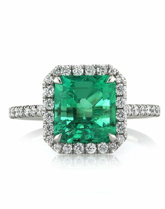 Mark Broumand Unique Emerald Cut Engagement Ring
