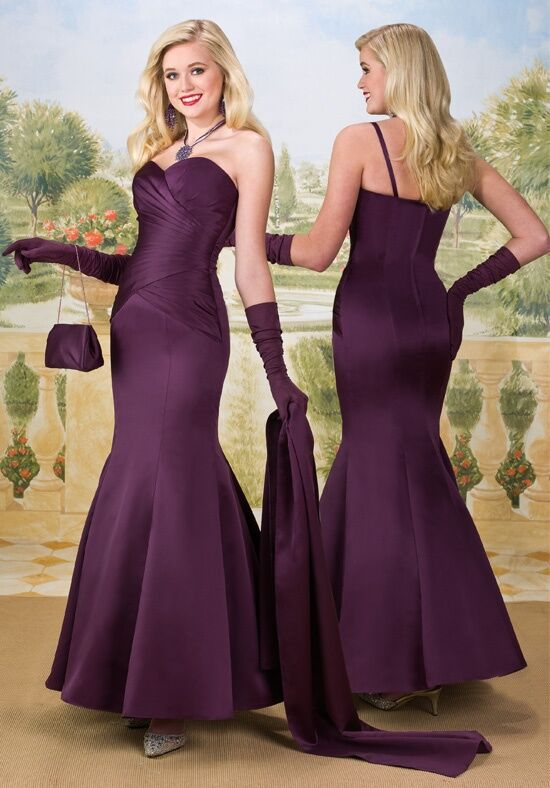 1 Wedding By Mary S Modern Maids M1660 Strapless Sweetheart Bridesmaid Dress