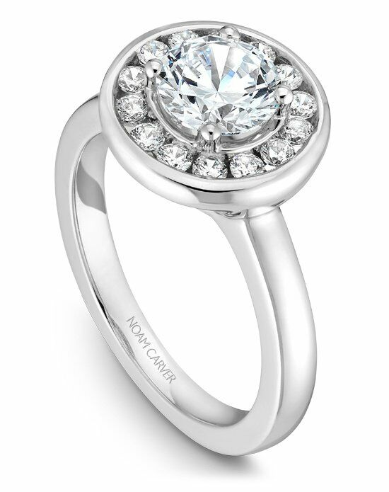 Noam Carver Vintage Round Cut Engagement Ring