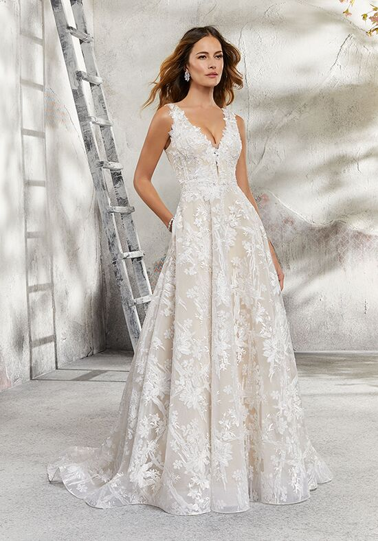 Morilee by Madeline Gardner/Blu 5695 / Lauren A-Line Wedding Dress