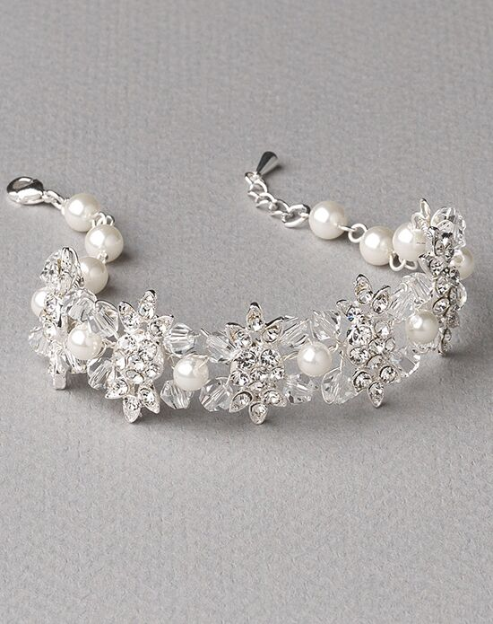USABride Johanna Pearl & Crystal Bracelet JB-4822 Wedding Bracelet photo
