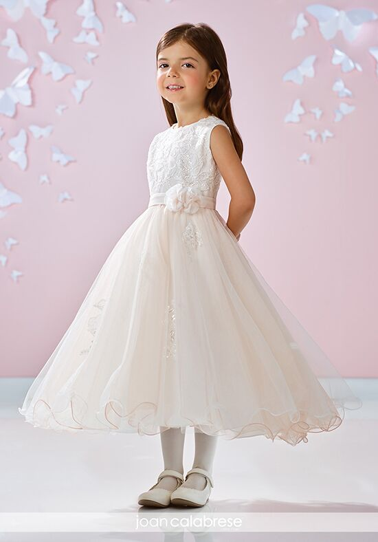 Joan Calabrese by Mon Cheri 117350 Ivory Flower Girl Dress