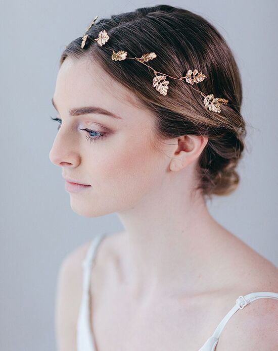 Davie & Chiyo | Hair Accessories & Veils Ianthe Hair Vine Gold Headband