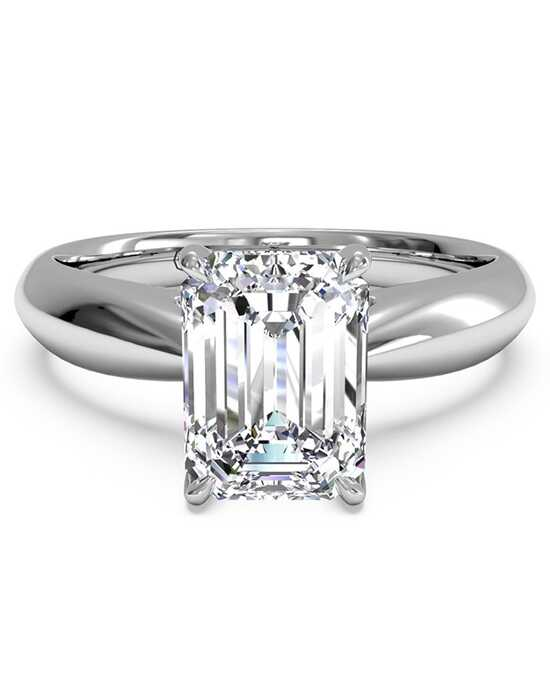 Ritani. Solitaire Diamond Tapered Engagement Ring ...