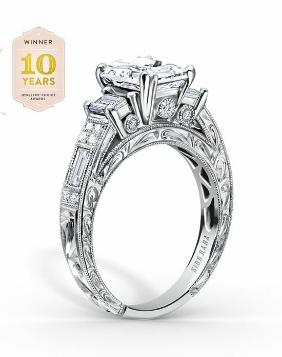 Kirk Kara Charlotte Collection K1384DE-R White Gold Wedding Ring