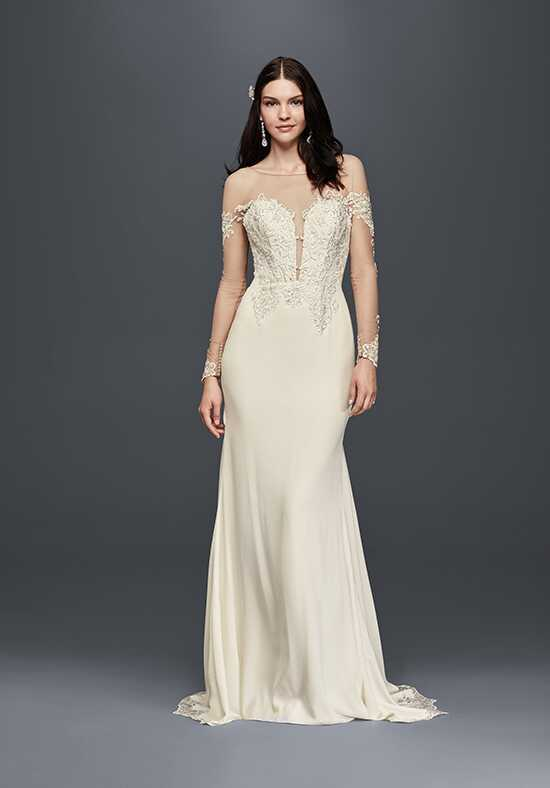 David's Bridal Galina Signature Style SWG763 Sheath Wedding Dress