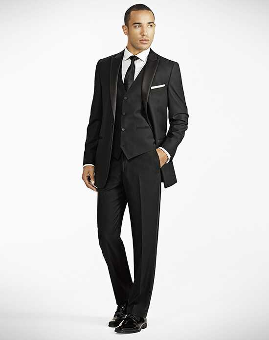 Generation Tux Black Peak Lapel Tux Wedding Tuxedos + Suit photo