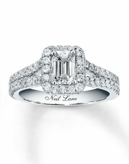 Neil Lane 14kw 1-5/8cttw Emerald Cut Bridal Set-940232900 ...
