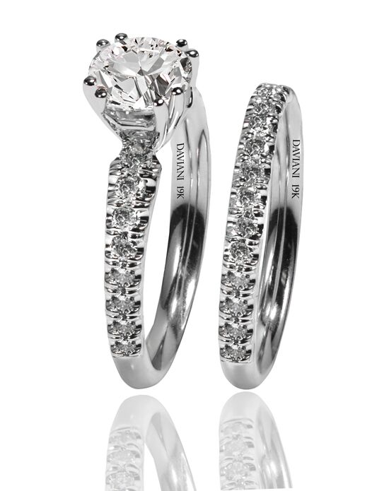 Daviani Love Links Collection DCR1206 White Gold Wedding Ring