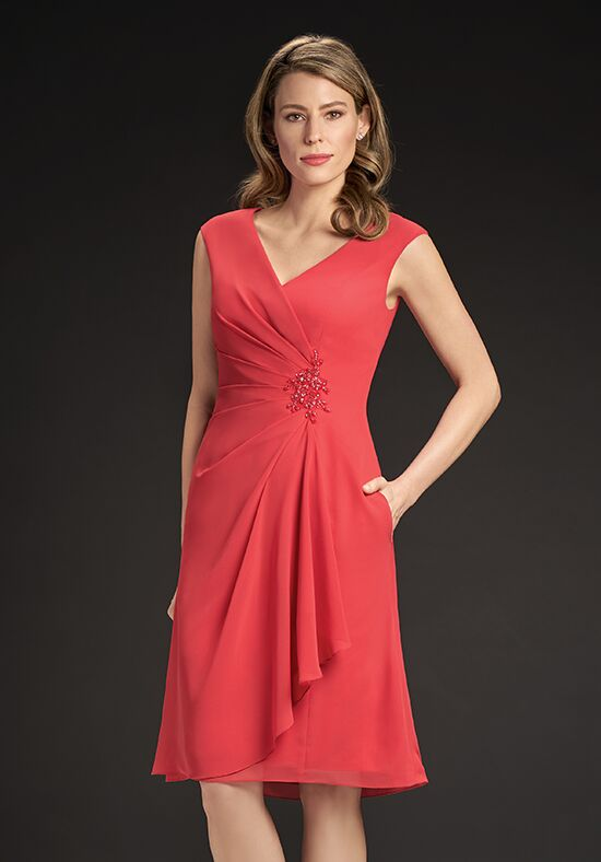 Jasmine Black Label M190052 Red Mother Of The Bride Dress