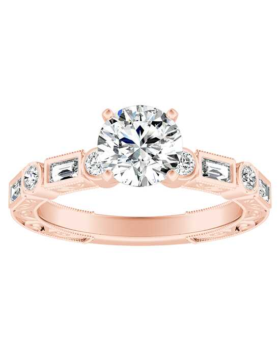 DiamondWish.com Vintage Princess, Round Cut Engagement Ring