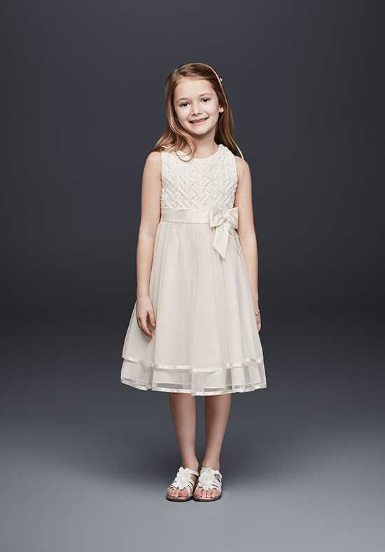 David's Bridal Flower Girl E721347 Ivory Flower Girl Dress