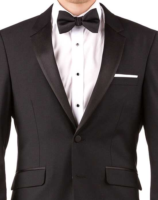 Generation Tux Black Notch Lapel Tux White, Black Tuxedo