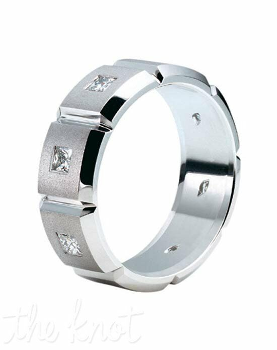 Jeff Cooper R-3070 Palladium, Platinum, White Gold Wedding Ring