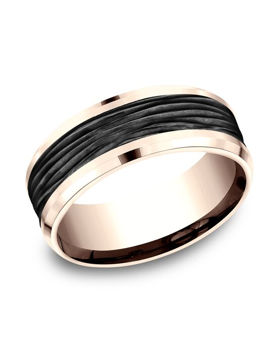 Benchmark CF468743BKT14KR Rose Gold Wedding Ring