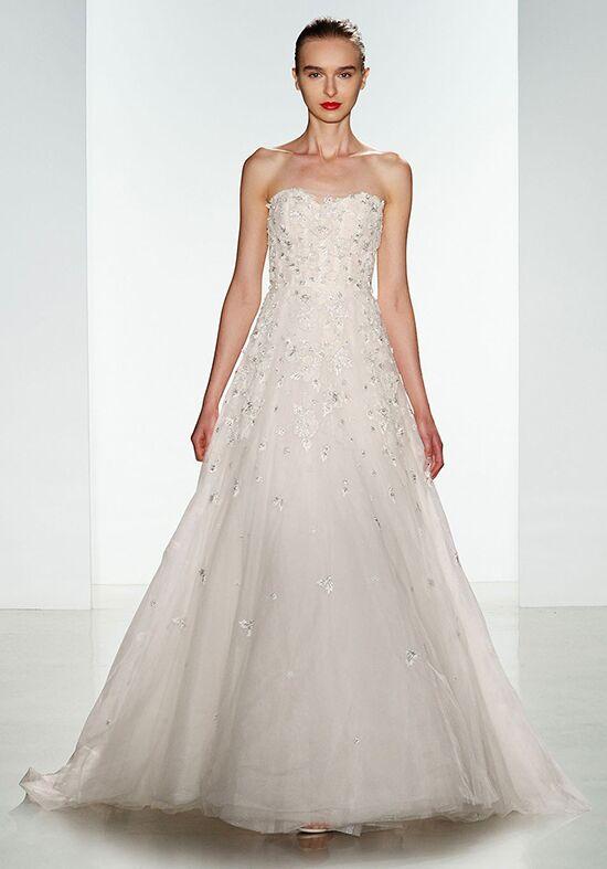 Amsale ashton wedding dress the knot for Amsale wedding dress price
