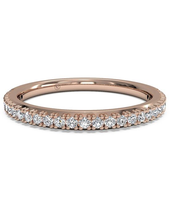 Ritani Women's French-Set Diamond Wedding Band - in 18kt Rose Gold (0.16 CTW) Rose Gold Wedding Ring