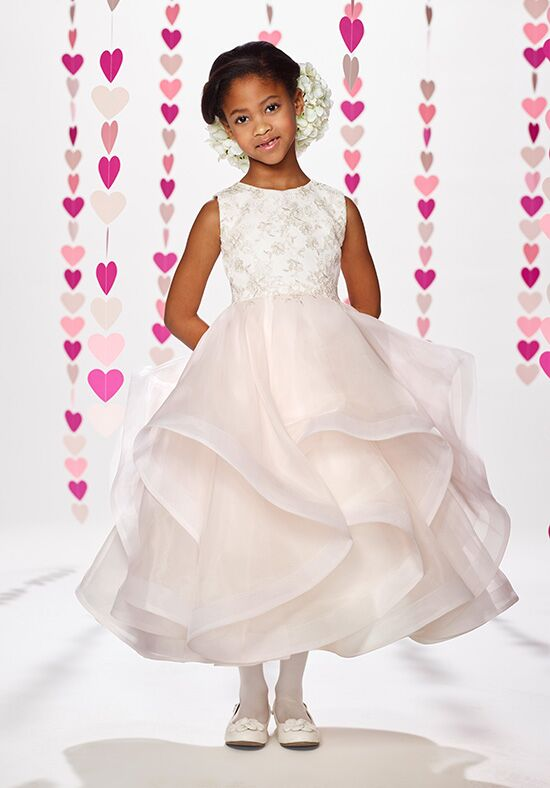 Joan Calabrese by Mon Cheri 217382 Ivory Flower Girl Dress