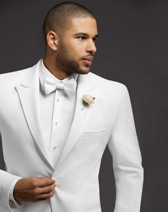 Men's Wearhouse Peak Lapel White Tuxedo Wedding Tuxedos + Suit photo