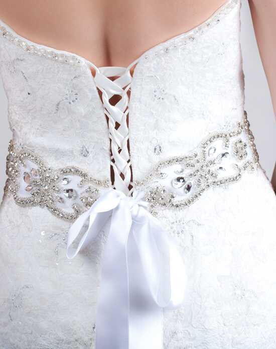 Alisa Brides Iris Sash White Sashes + Belt