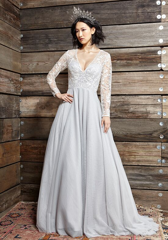 Ivy aster touch of grey wedding dress the knot ivy aster touch of grey ball gown wedding dress junglespirit Images