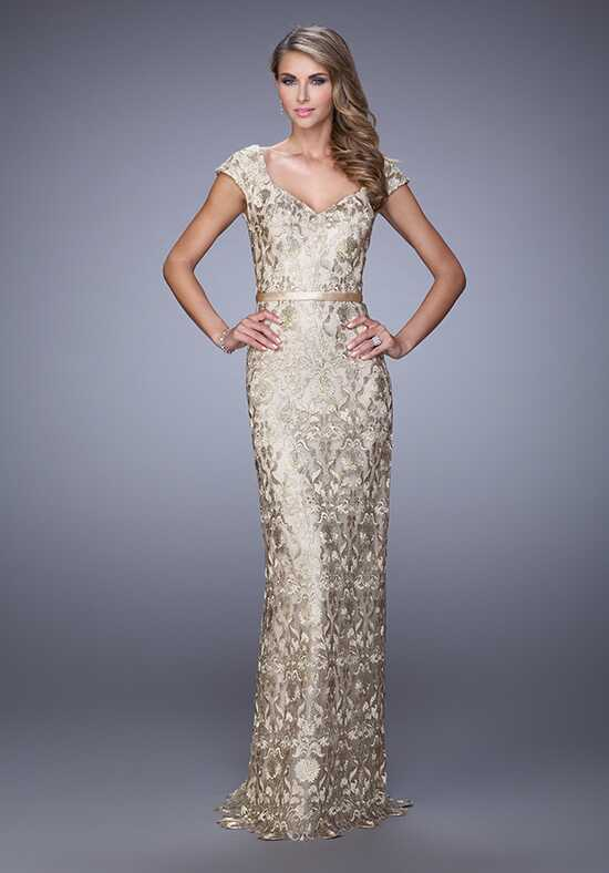 La Femme Evening 21680 Gold Mother Of The Bride Dress
