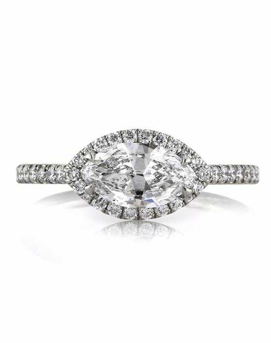 Mark Broumand. 1.60ct Marquise Cut Diamond Engagement Ring