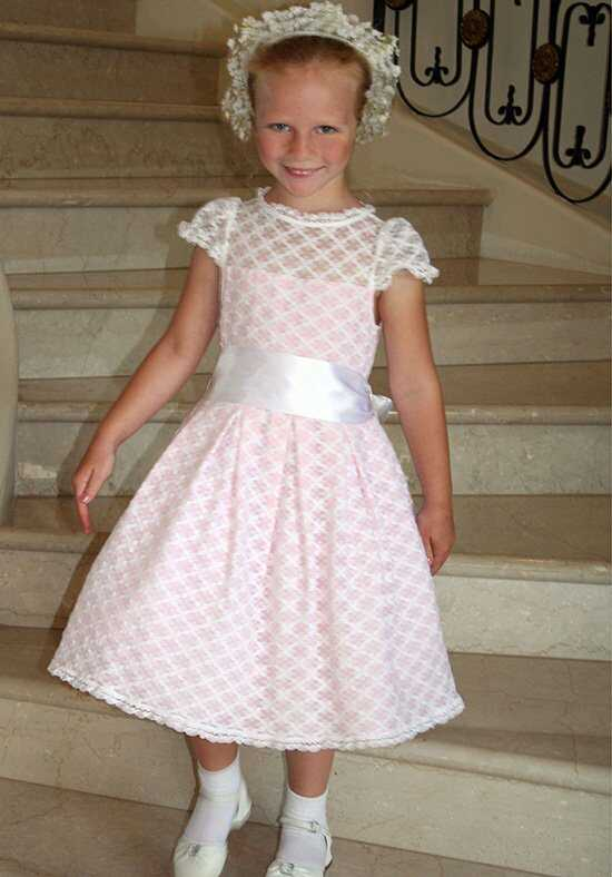 Isabel Garretón Cotillion Pink Flower Girl Dress
