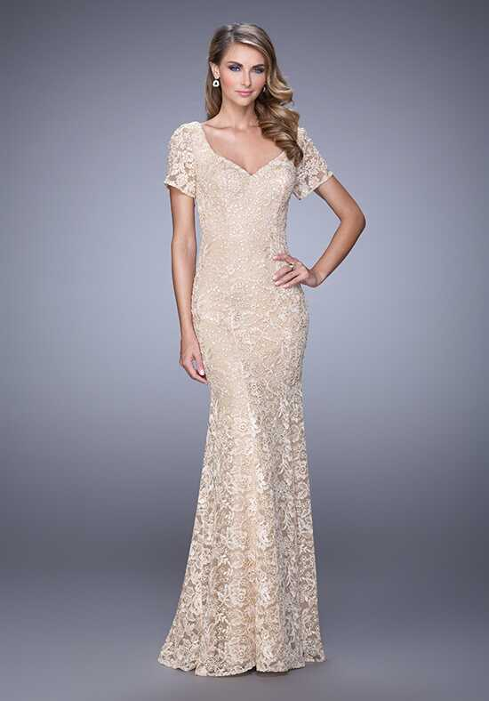 La Femme Evening 21657 Champagne Mother Of The Bride Dress