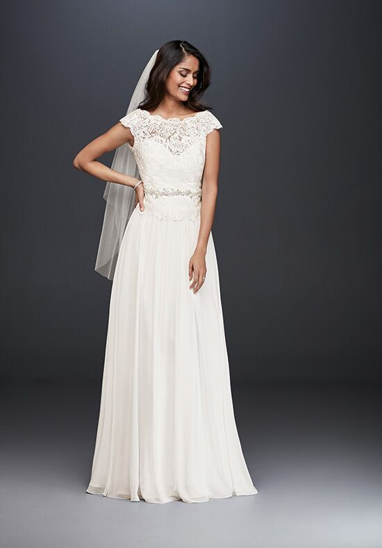 David's Bridal David's Bridal Collection WG3851 A-Line Wedding Dress