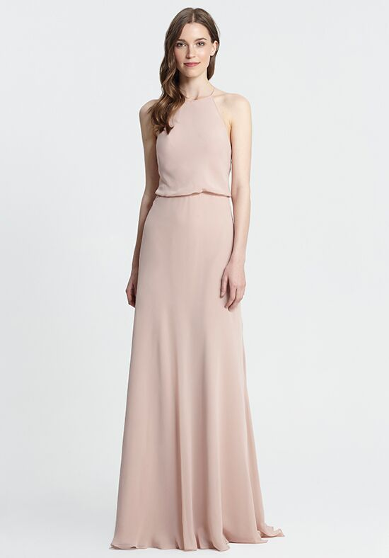Monique Lhuillier Bridesmaids 450371 Halter Bridesmaid Dress