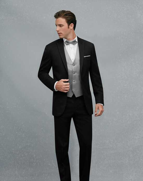 Jos. A. Bank Black Peak Lapel Tuxedo Wedding Tuxedos + Suit photo