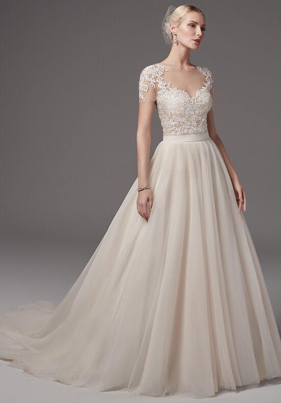 Sottero and midgley gillian bodysuit with kallin skirt for Wedding dress bodysuit and skirt