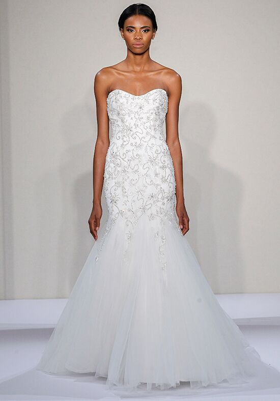 Dennis basso for kleinfeld 14020 wedding dress the knot for Kleinfeld mermaid wedding dresses