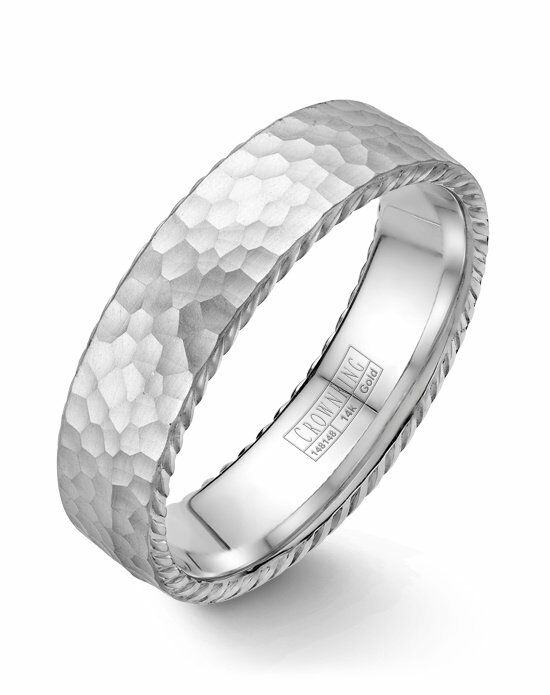 CrownRing WB-004R6W-M10 White Gold Wedding Ring