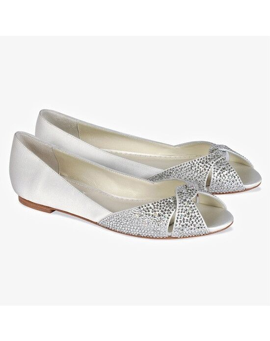 Perfect Details Benjamin Adams Andie Flat Wedding Shoes ...