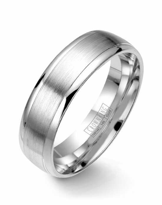 CrownRing WB-7019-M10 White Gold Wedding Ring
