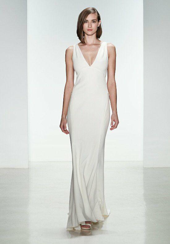 Amsale a682 demi wedding dress the knot for Amsale wedding dress price